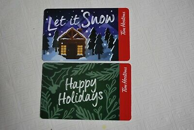 Tim Hortons Gift Card , Happy Holidays , Let It Snow , 2 Cards , No Value