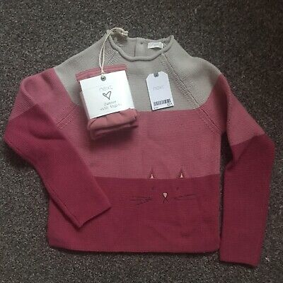 Girls Jumper With Tights Cats 6-7 Years Next Bnwt