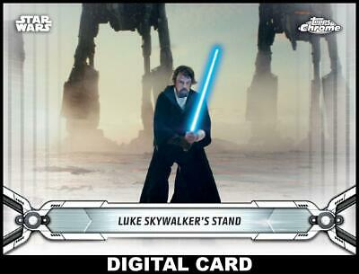 Topps Star Wars Card Trader CHROME LEGACY WHITE Wave 5 Lukes Stand 100cc