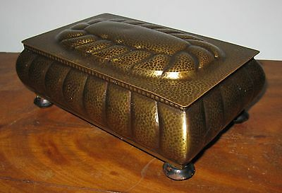 Vintage WMF Germany Arts & Crafts Deco Hammered Brass Music Box