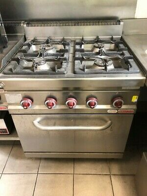 Commercial 4 Burner Stove With Oven