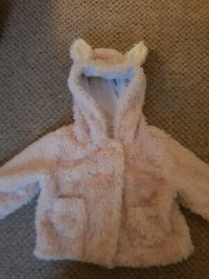 Next Baby Girls Pink Faux Fur Coat Age 9-12 Months