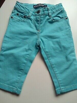 Mini Boden Girls Acqua Cropped Jeans Trousers Capri size age 4 Years