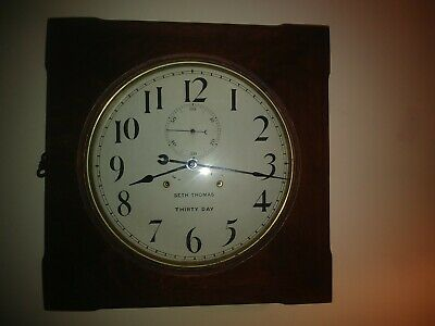 Antique Vintage Seth Thomas Office  # 11 Gallery 30 Day Clock-Nice!
