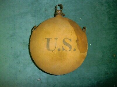 Indian Wars Us Pattern 1878 Canteen With Original Cork And Chain