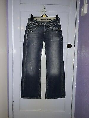 "Boys Mens G Star Denim Jeans ""Core Loose Wmn"" Blue Size Waist 26"" Length 30"""
