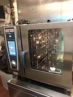 Rational SCC61 Gas Combi Oven Self Cooking Center 6Pan B618106.12 2014.