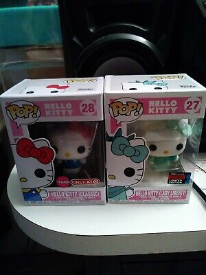 Funko Pop NYCC 2019 Exclusive : Hello Kitty (Lady Liberty) #27 Flocked#28 Target