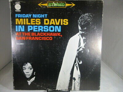 Friday Night MILES DAVIS In Person LE10018 LP Vinyl VG+ cover VG