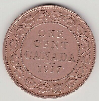 1917 Canada Large 1 cent coin