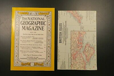 National Geographic July 1958 with map: British Isles
