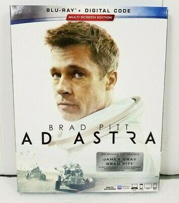 Ad Astra Blu-Ray (2019) w/ Case & Slipcover + Digital Copy Brad Pitt