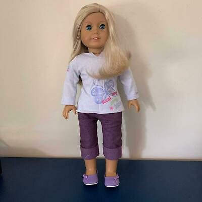 American Girl doll - Blonde hair, Blue eyes   original outfit