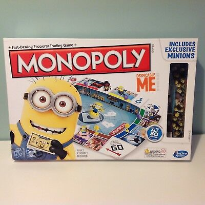Despicable Me Monopoly Board Game 100% Complete With Exclusive Minions Hasbro