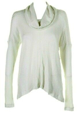 Metallic Striped Long Sleeve Notched Thermal Tee Lucky Brand Womens M NWT$49