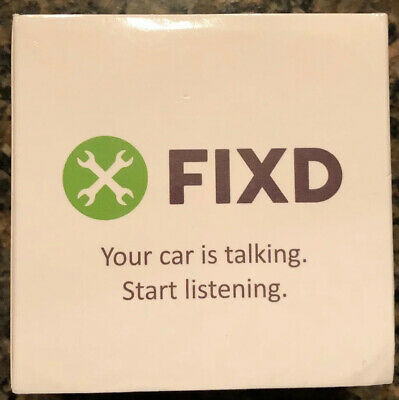 New in Package FIXD OBD-II 2nd Generation Active Car Health Monitor NO RESERVE
