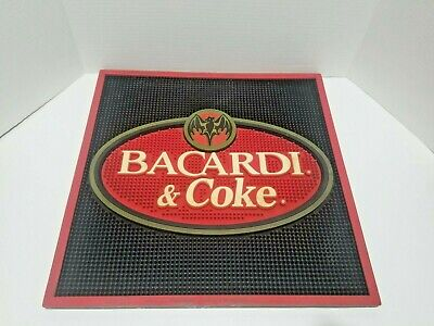 "Bacardi And Coke Bar Spill Mat With Bat 16.5"" x 16.5"""