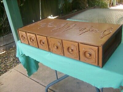"""6 x """"SINGER SEWING MACHINE WOODEN DRAWERS Reasonable Condition for AGE,Circa1930"""
