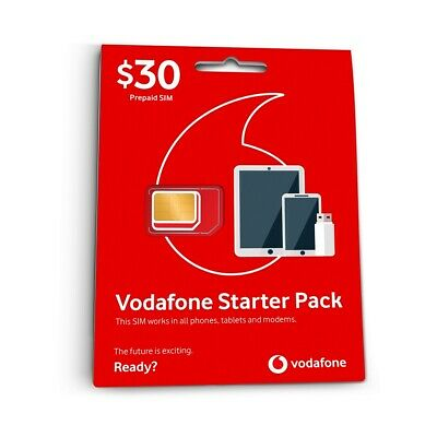 Vodafone $30 Prepaid Starter Sim Card 28 Days 4G 10GB Included