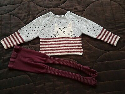 Girls Next Jumper And Tights Outfit 3-4 Years