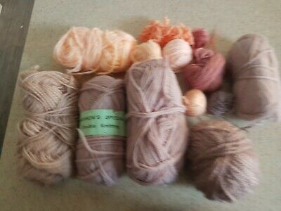 MIxed Joblot of Wool Yarn Pale Pastels 179 g for knitting crochet crafting