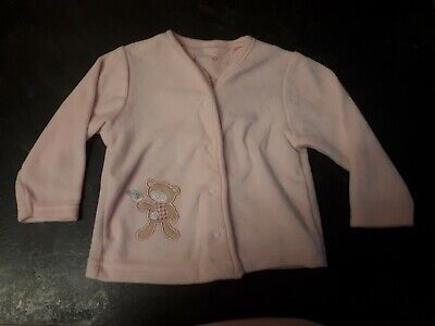 St Bernard For Dunnes 3-6 Months Girl Pink Cardigan Teddy Embrodiery