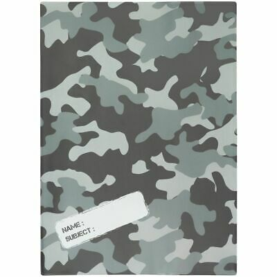 Studymate Book Cover A4 Camouflage Grey