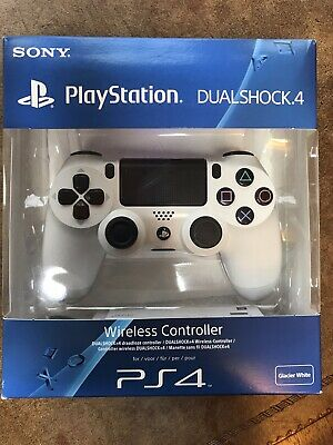 Sony PlayStation DualShock 4 Wireless Controller - Glacier White & boxed