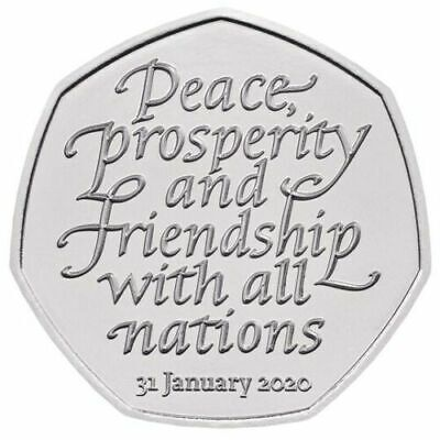 2020 UK BREXIT 50p COIN RELEASED FRIDAY 31ST JANUARY NOW IN STOCK