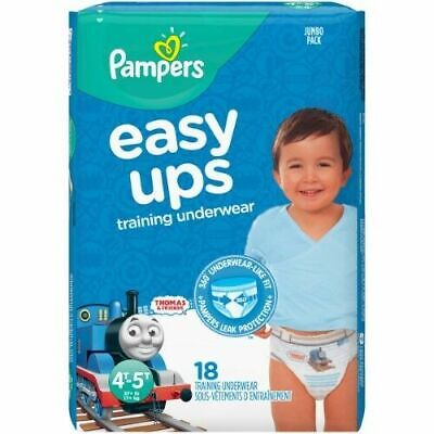 Pampers Easy Ups Boys' Training Pants 4T-5T 27ilb  18ct