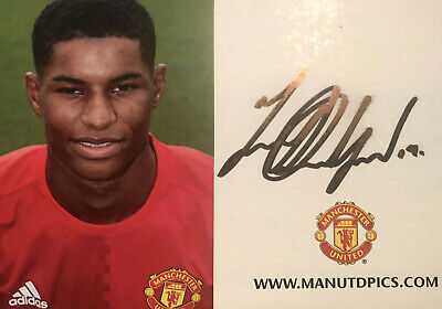 Marcus Rashford - Manchester United (Man Utd) Signed Club Card