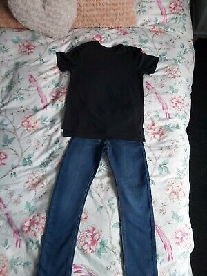 Boys Next and River Island Jeans And T-shirt Age 7 - 8 years
