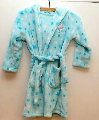 Genuine M&S Disney Frozen Elsa Dressing Gown / Robe with Hood - Age 6-7 years