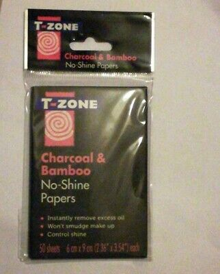 T ZONE Charcoal & Bamboo No Shine Papers