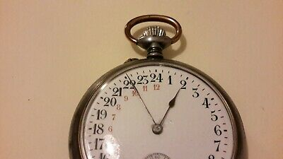 Pocket watch 24 horas reloj de bolsillo 24 h.