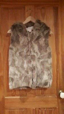 Girls NEXT faux Fur Gillet / Body Warmer Aged 12 Years