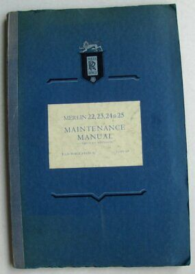 Rolls Royce Merlin Maintenace Manual Tsd Publication 85 Brochure
