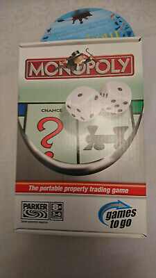 Travel MONOPOLY UK Edition Board Game Complete Parker UNUSED