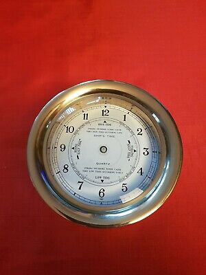Solid Brass Ships Clock Case.