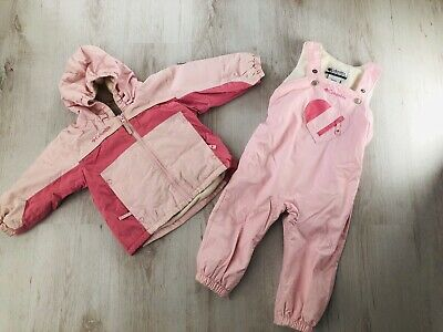 COLUMBIA Girls Age 2 Years Pink Ski Jacket Coat & Matching Salopettes Exc Cond