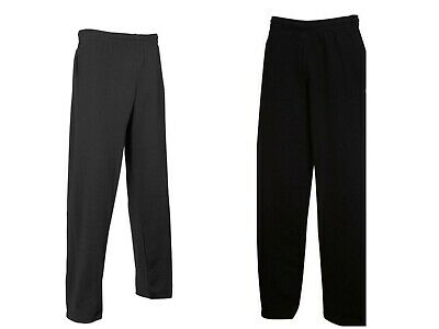 Girls Boys Kids Open Ham Jogging Bottoms Fleece School PE BLACK NAVY Age 3Y-16Y