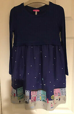Girls JOULES  Size 7-8 Years (128cm)  Beautiful Blue Dress *Party* VGC!!
