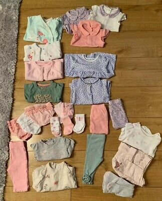 Baby Girls Clothes Bundle 0-3 Months Some 3-6 Months Mothercare Next 26 Items