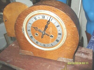 Clock Parts  Striking Dupontic Clock Works  Key And Pendulum For  Repair