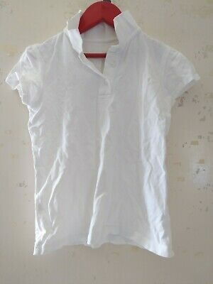 George Girls School White Polo Shirt Aged 8-9 Years