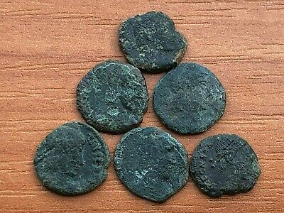 Lot of 6 Ancient Roman Imperial Bronze Coins