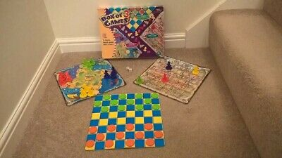 ELC Box of 3 traditional childrens' board games - Ludo/Snakes & Ladders/Draughts