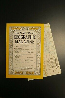 National Geographic November 1958 with North Central United States MAP