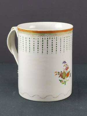 """Antique 18Th C Chinese Export Porcelain Oversize Mug, 6"""" Tall"""