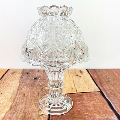 2 Piece Hurricane Fifth Avenue Crystal Candle Holder Fairy Lamp Made In Germany
